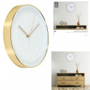wholesale Clocks & Alarm Clocks: Clock round 30.5cm white cuivree, 1-time assor