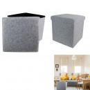 Foldable pouf pouf gray, 1-fold assorted