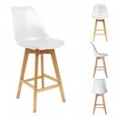 Bar chair pp white, 1-fold assorted