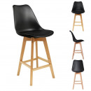 Bar chair black pp, 1-fold assorted