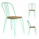 green and metal green chair, 1- times assorted