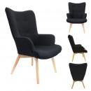 Fotel czarny Helsinki, 1-czas mieszany