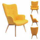 Armchair helsinki yellow, 1-fold assorted