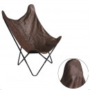 brown suedine butterfly armchair