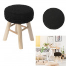round braid stool in black mesh, 1-time assort