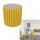 wholesale Small Furniture: yellow wooden log stool, 1- times assorted