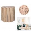taburete de leña en madera natural, 1- veces surti