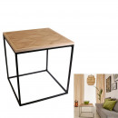 ingrosso Home & Living: Tabella Carree legno e metallo 48x48x50 cm di diam