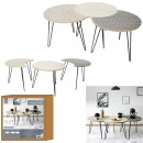 black tables x3, 1- times assorted