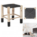 Moroccan stool black, 1- times assorted