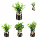 artificial plant pot glass rafia 12cm, 3-fold