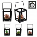 wholesale Other: artificial plant square metal 10.8cm, 3-times ass