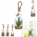 artificial plant glass suspension 20cm, 3-fo