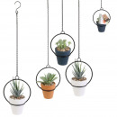 artificial plant metal suspension 12cm, 3-fo