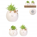 artificial plant cat and unicorn ceramics, 2-f