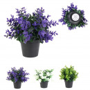 colored artificial plant 23cm, 3- times assorted