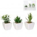 artificial plant x3 ceramic pots 19.5cm