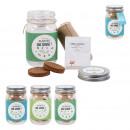graine a planter aromates mason jar, 3-fois assort