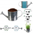 wholesale Garden Equipment: seed planting spices watering can metal, 2-fold