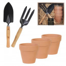 wholesale Garden Equipment: gardening accessory pots x3 tools x2