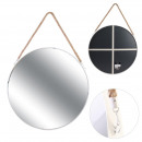 wholesale Mirrors: Round mirror white handle 50cm ring, 1- times asso
