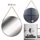 Großhandel Spiegel: schwarzer runder Spiegel mit Griff 50cm, 1- fach s