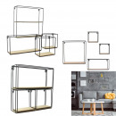 shelves 4 pieces wood metal 38x38x10cm, 1-time ass