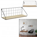 etagere bois metal rectangle 15x45x15cm