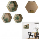 Regale hexagonal x3, 1- fach sortiert