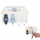 groothandel Stationery & Gifts:familie x4 sleutelhanger