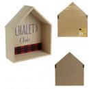 etagere bois maison chalet 26x10x30cm