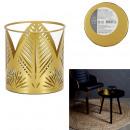 Großhandel Windlichter & Laternen: Metallkerzenhalter gemeißelt Gold