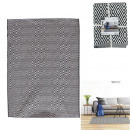 black and white rhombus rug 120x170cm, 1-time ass