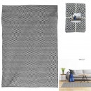 black and white argyle rug 140x200cm, 1-time ass