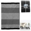 wholesale Home & Living: carpet black gray strips 140x200cm, 1- times assor
