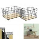 black wired storage case x2, 1-time assort