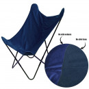velvet reversible blue butterfly armchair, 1-time