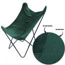 green reversible velvet butterfly chair, 1-time