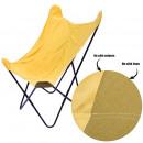 groothandel Meubels: vlinderfauteuil velvet omkeerbaar geel, 1 keer