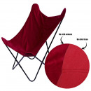 red reversible velvet butterfly chair, 1-time