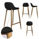 bar stool fabric black metal feet, 1-time ass