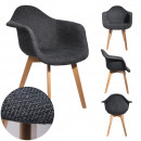 black mesh armchair, 1- times assorted