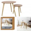 round wood trundle x2