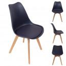 scandinavian chair purple padded PP shell