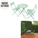 wholesale Garden Furniture: garden table and chairs x2 green water