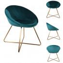 fauteuil karl bleu