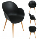 black shell oscar armchair