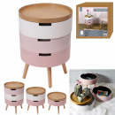 wholesale Home & Living: bedside table chest 3 levels pink