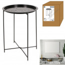 table d'appoint metal noir 60x46x46cm