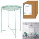 table d'appoint metal vert d'eau 60x46x46cm